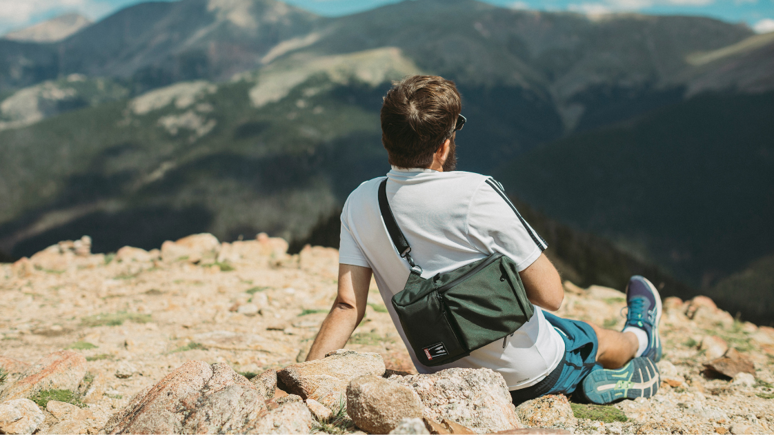 Smell proof crossbody bag for hiking