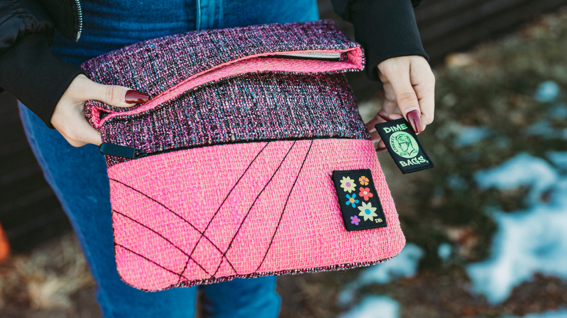 Pink Purse and Flower Patch