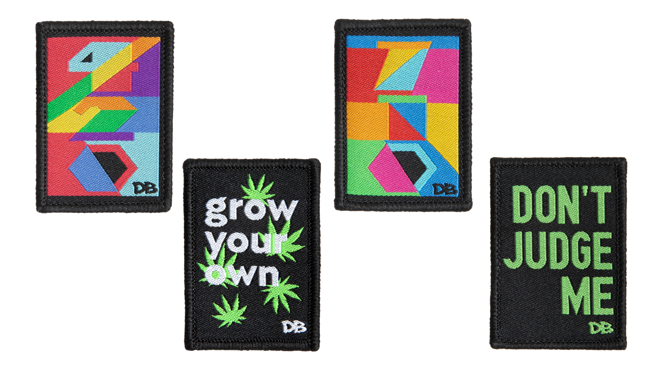 New Dime Bags Patches | Dont Judge Me | Grow Your Own | 420 | 710 | Patches
