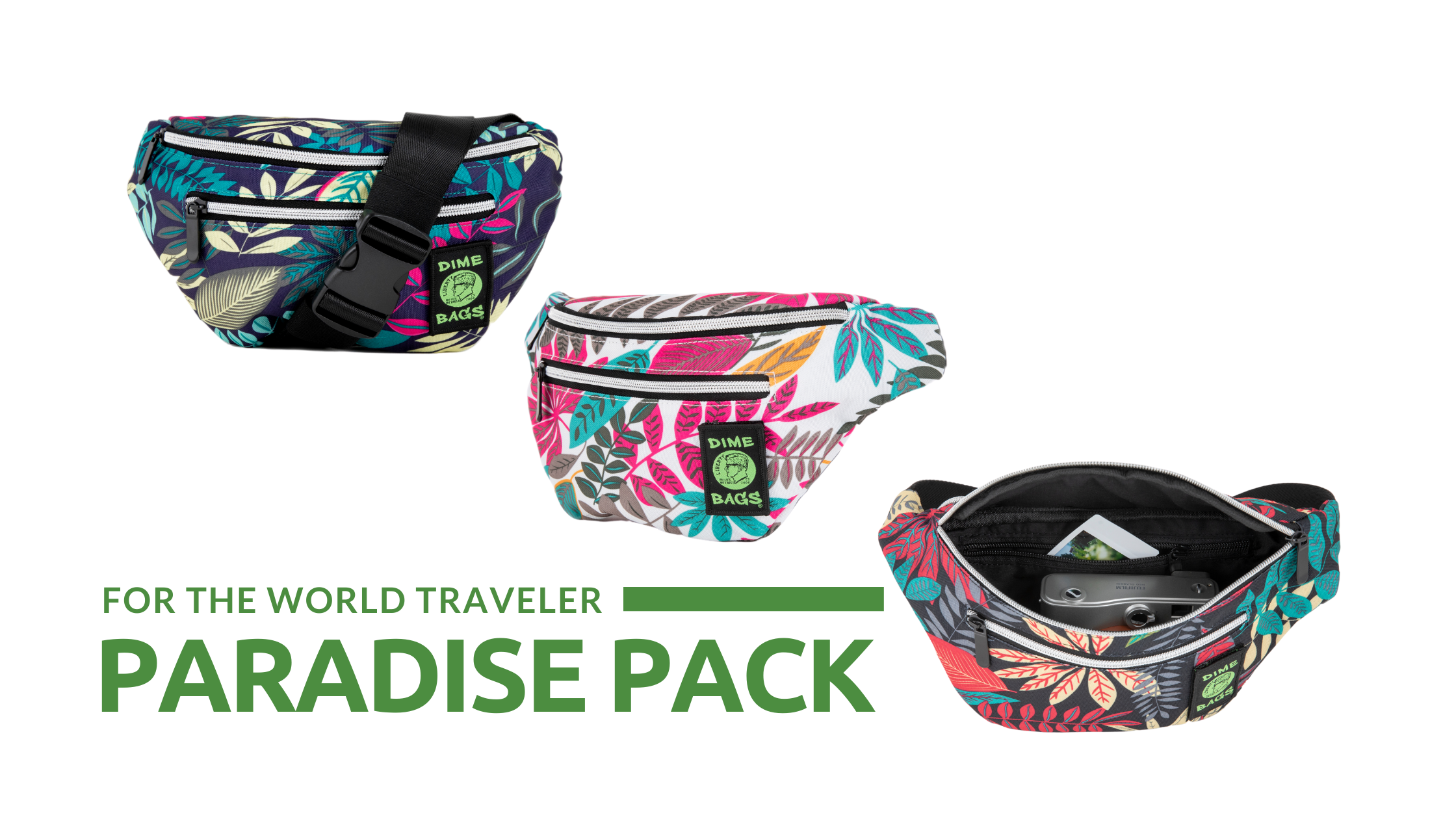 Paradise Pack | New Dime Bags | Fanny Pack | Waist Bags