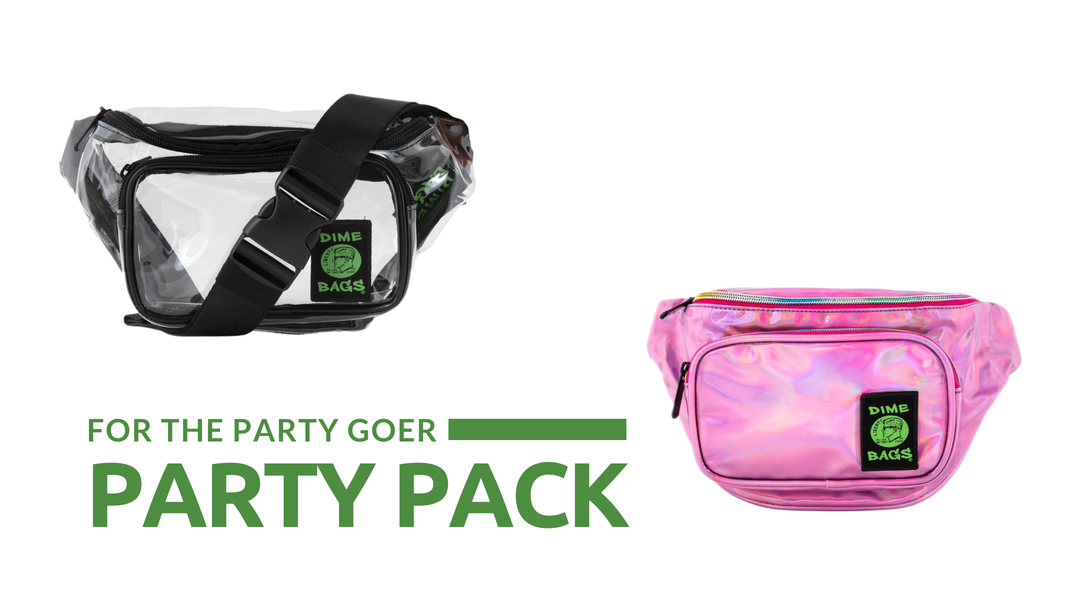 Party Pack | Dime Bags | Fanny Pack | New Dime Bags