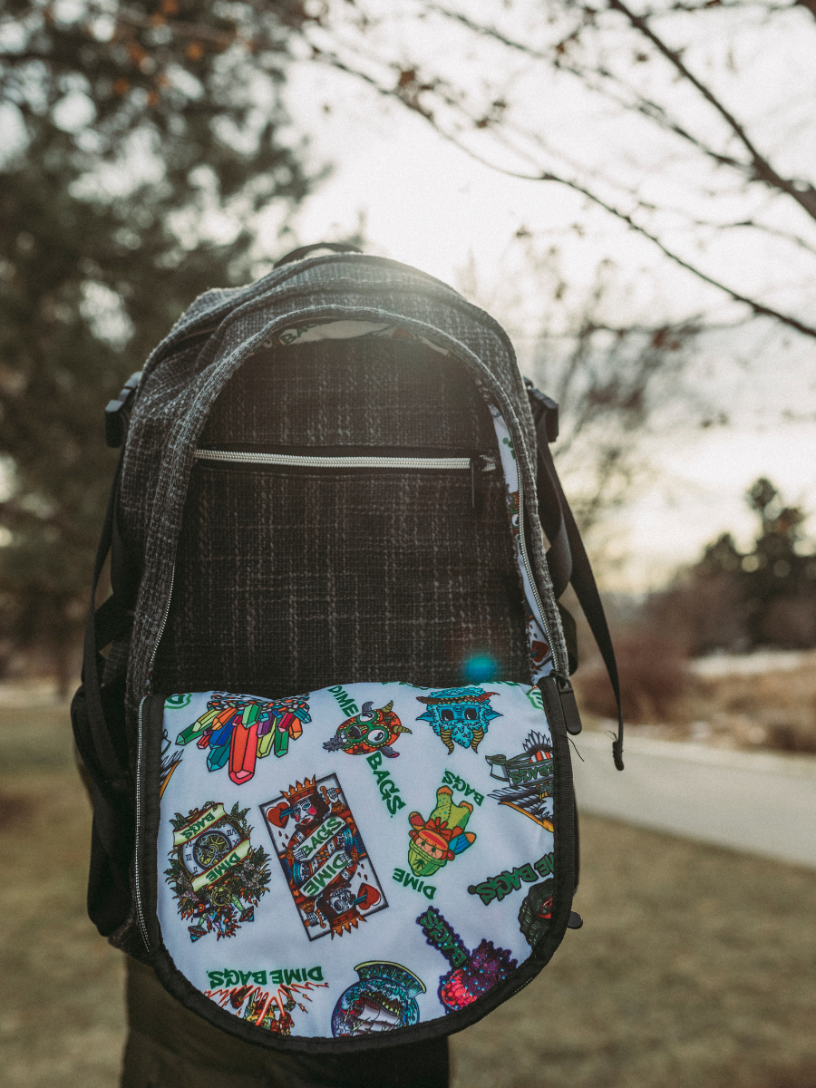 2020 Sticker of the Month backpack