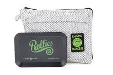 Load image into Gallery viewer, All-In-One Padded Pouch | Smell-Proof Pocket & Rolling Tray