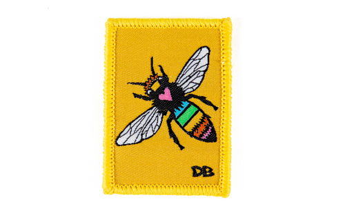 Bee Patch | Dime Bag | Dime Bags | Removable Patch | queen bee | Honey bee| Ellie Paisley Bee Patch | rainbow bee | bee | bumble bee patch | yellow patch | cute patch