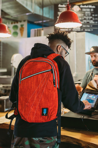 City Dweller Red Backpack | Hempster | Dime Bags