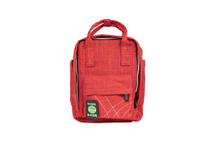 Load image into Gallery viewer, Dime Bags | Dime Bag | Dimebags | Mini Backpack | Mini Backpacks | Small Backpacks | Cute Backpacks | Trendy Bags | Trendy | Hot Box | Book Bag | Cute Bags | Hempster | Hemp Backpack | Hemp Bags | Hemp Backpacks | Hemp Bag | Red Backpack | Red Bag