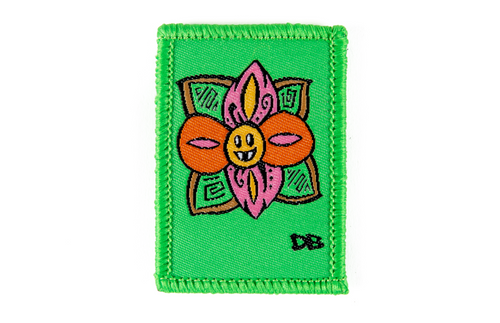 Fanged Flower Patch | Dime Bags Patch | Dimebag | Ellie Paisley |Cute Flower | Flower patch | Removable Patch | Velcro Patch | DimeBags