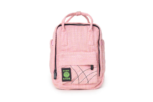 Hot Box | Dime Bags | Dimebags | Dime Bag | Hempster | Mini backpack | cute | lifestyle | bag | trendy | Hotbox | Dime Bags Hot Box | Pink Mini Backpack | Small Pink Backpack | Pink Bag | Light Pink Bag | Hemp Backpacks | Hemp Bag | Hempster | Hemp Backpack | Hemp Bag