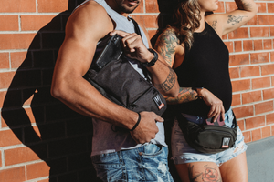 Omerta | The Don | Smell Proof | Carbon Lined Technology | Cross-body Sling | Cross-body Backpack | Smell Proof Backpack | Dime Bags | Dime Bag | Dimebags | Dimebag | Mini Backpack | Smellproof | Carbon Activated Technology | Smell Proof Bag | Activated Carbon | Water Resistant Bags | Water Resistant Backpack
