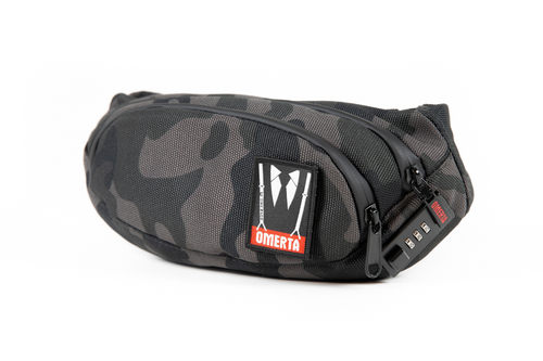 Omerta | The Outfit | Smell Proof | Lockable Fanny Pack | Fanny Pack | Carbon Lined Technology | Dime Bags