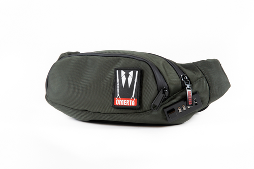 The Outfit | Smell Proof Lockable Fanny Pack |  3 Zippered Compartments | Omerta by Dime Bags