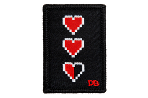 Pixel Hearts Patch | Dime Bags | Patch | Hearts
