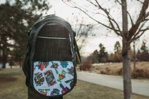 Sticker of the Month Backpack | $10,000 Dime Bags Backpack | 2020 Sticker of the Month | Collectable Dime Bag | Exclusive Dime Bag