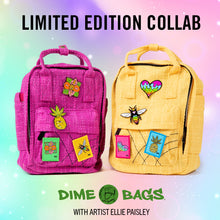 Load image into Gallery viewer, Ellie Paisley Collab Bags | Interior Lining | Art Backpack | Art Hot Box | Hotbox | Full Set | Artist Ellie Paisley | Magenta Hot Box | Yellow Hot Box | Full Set