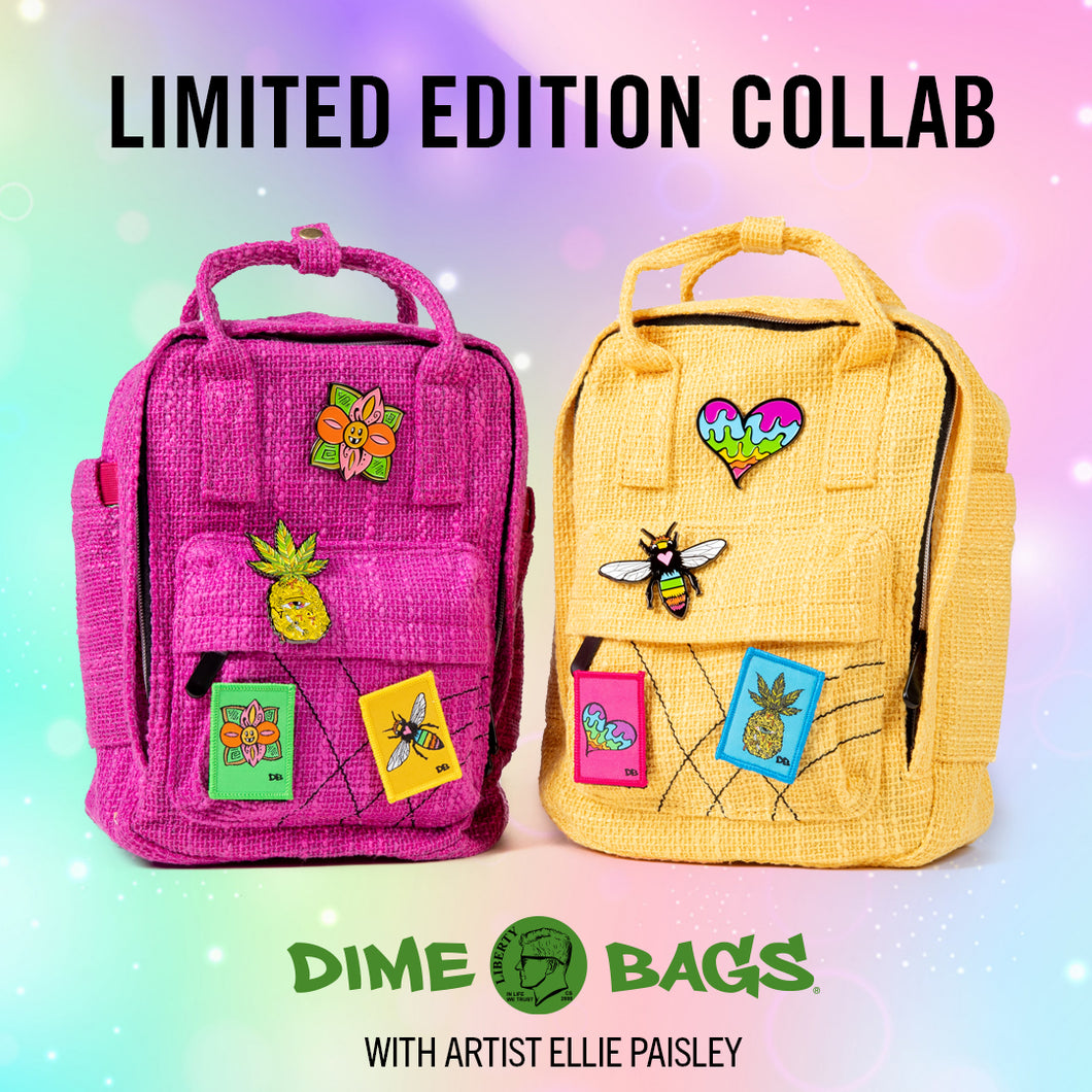 Ellie Paisley Collab Bags | Interior Lining | Art Backpack | Art Hot Box | Hotbox | Full Set | Artist Ellie Paisley | Magenta Hot Box | Yellow Hot Box | Full Set