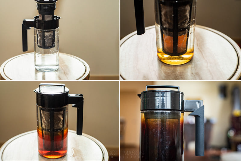 four stages of brewing cold brew