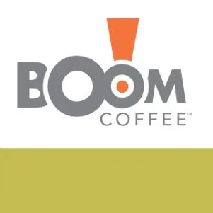 boom brothers coffee organic label in green