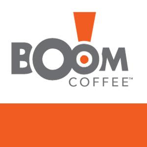 boom coffee flavored label