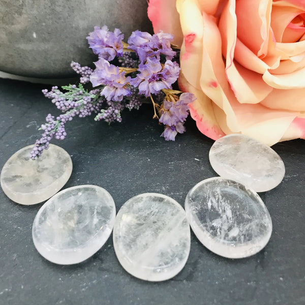Clear Quartz Coin