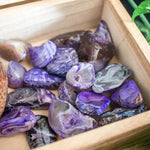 Agate Occos Tumble Stone - Purple
