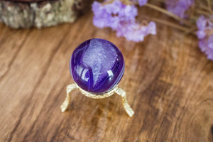 Agate Sphere - Purple - Small