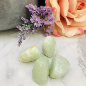New Jade (Serpentine) - Large Tumbled Stone