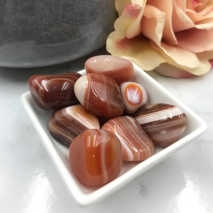 Agate Banded Red -Tumbled Stone