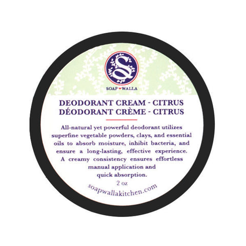 Soapwalla Natural Deodorant Cream