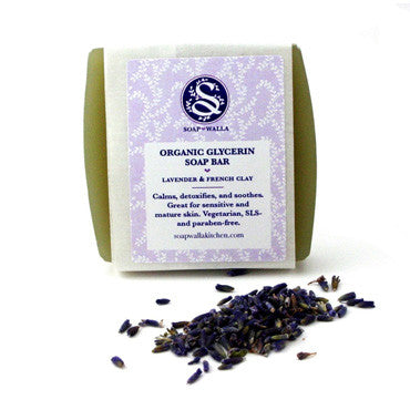 Soapwalla Organic Lavender & French Clay Soap Bar