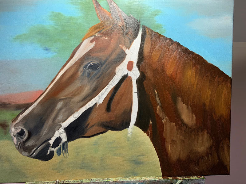 How to paint a horse in oils - Animal House Portraits - pet portrait | horse painting