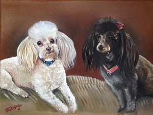 Dog Portrait, Oil painting, Pet Portrait, Pet gift, Pet memorial,