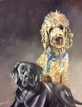 Load image into Gallery viewer, Dog Portrait, Oil painting, Pet Portrait, Pet gift, Pet memorial,