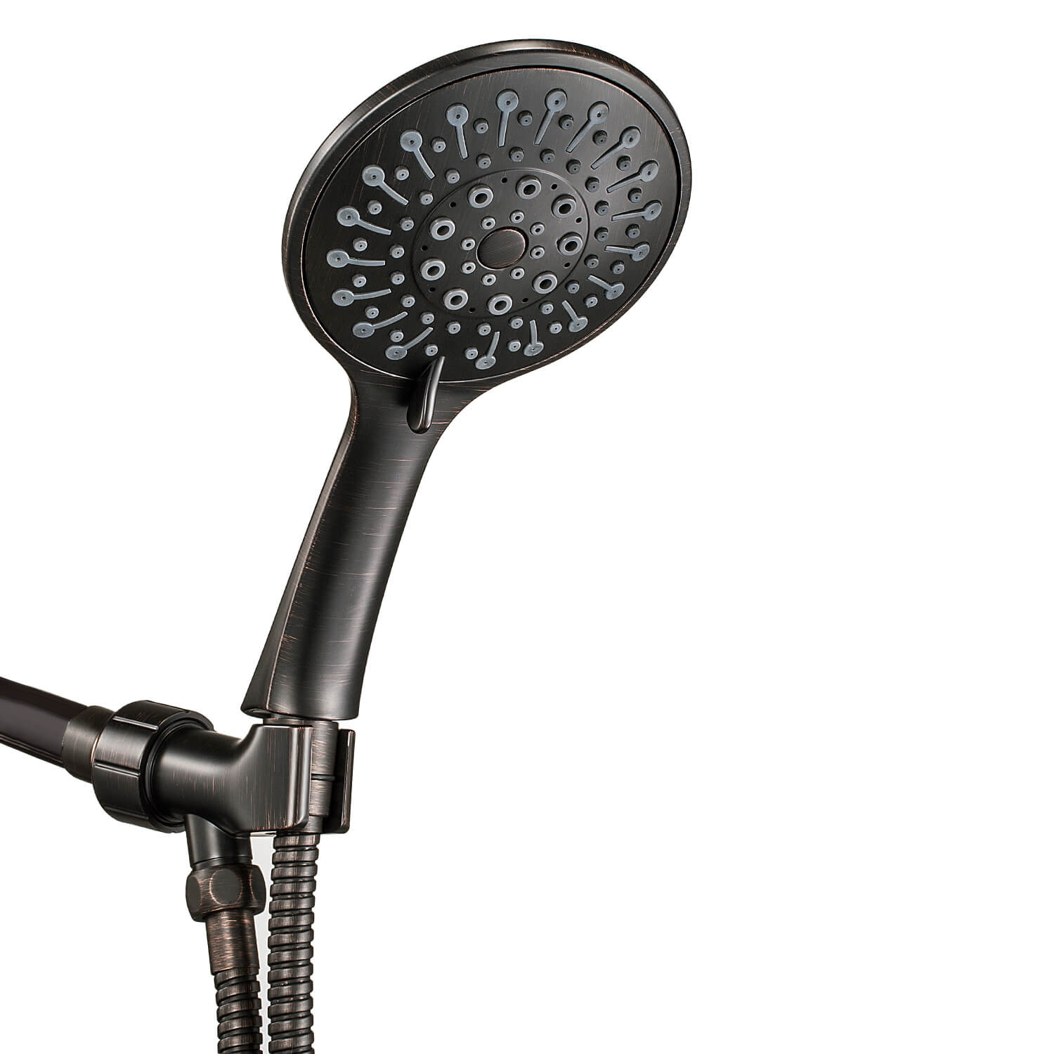Anza High Pressure Handheld Shower Head With Hose Oil Rubbed Bronze