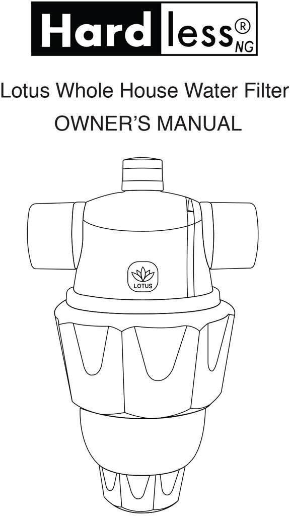 Hardless NG Lotus Water Filter User Manual Cover