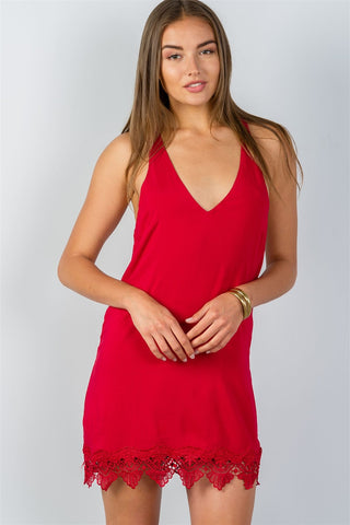 Low Back Halter Mini Dress