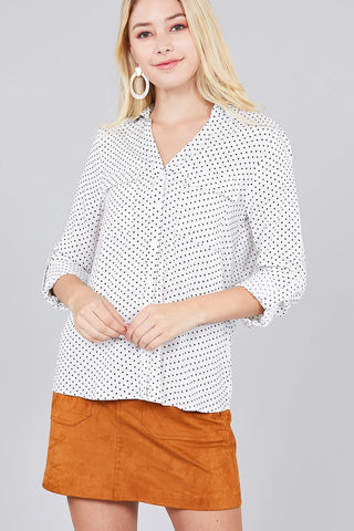 Long Sleeve Patch Pocket Woven Shirt