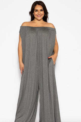 Plus Size Wide Legged Jumpsuit