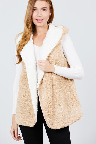 Reversible Faux Fur Vest.