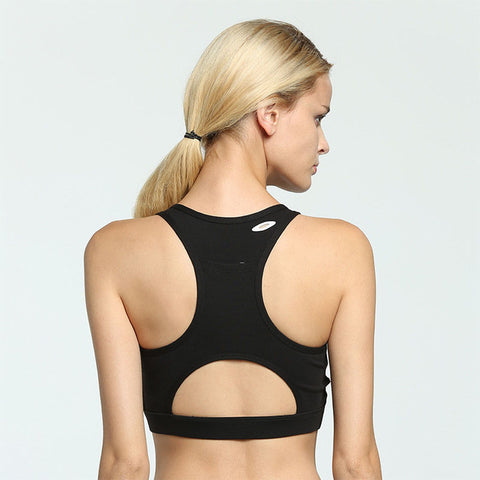 Compression Padded Sports Bra With Phone Pocket