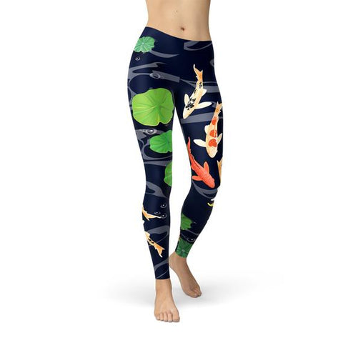 Koi Fish in Pond Leggings