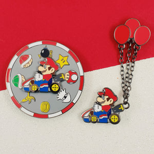 COMBO Mario Kart Spinner and Balloon Enamel Pin Set
