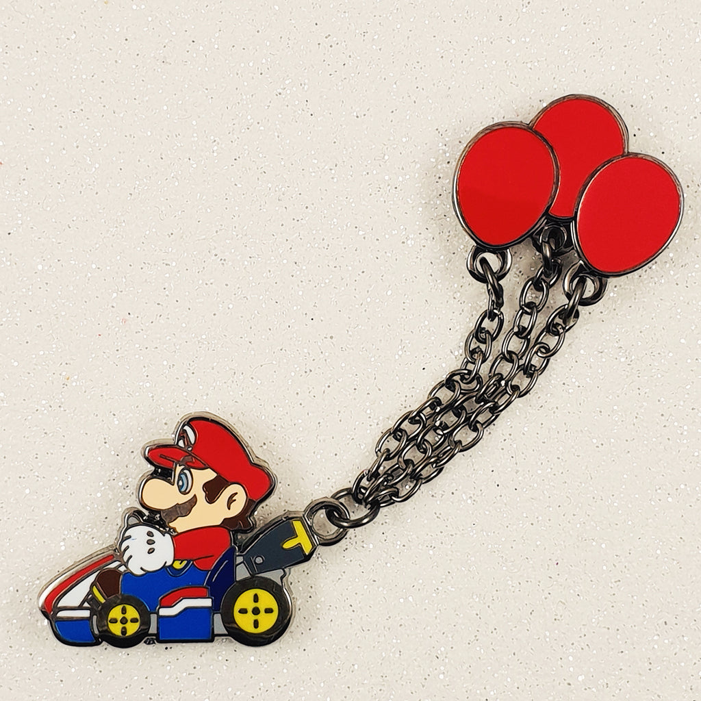 Mario Kart Balloon Battle Mode Enamel Pin with Chain