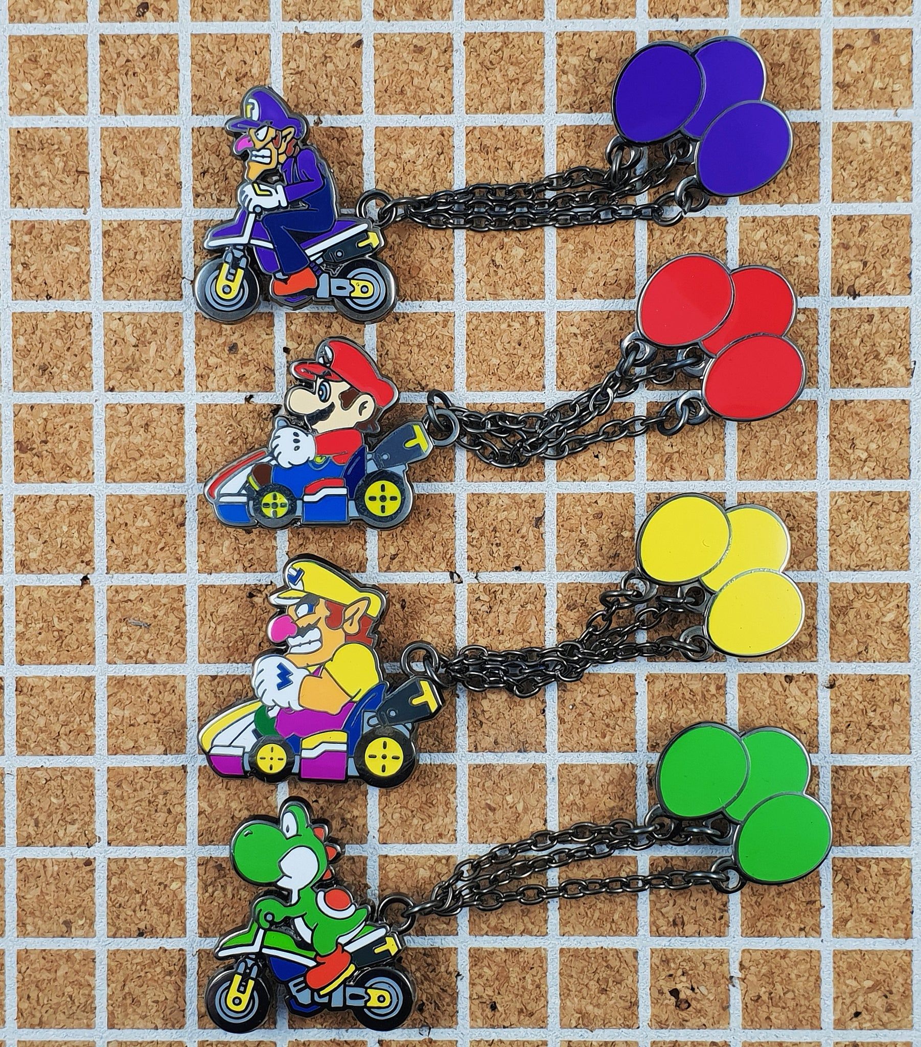 Wario Balloon Battle Mode Pin with Chain