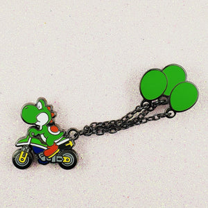 Yoshi Balloon Battle Mode Pin with Chain