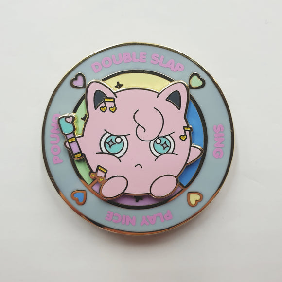 Jigglypuff Battle Spinning Hard Enamel Pin
