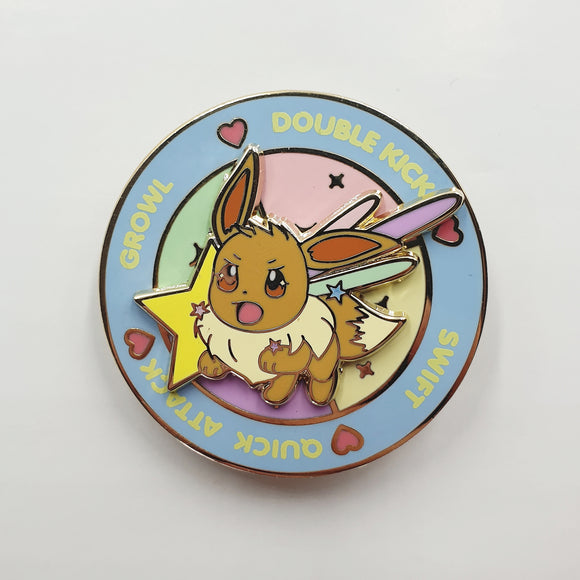 Eevee Battle Spinning Hard Enamel Pin
