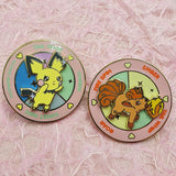 Pastel Pink Pichu Battle Spinning Hard Enamel Pin