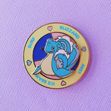 Lapras Battle Spinning Hard Enamel Pin