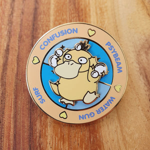 Psyduck Battle Spinning Hard Enamel Pin