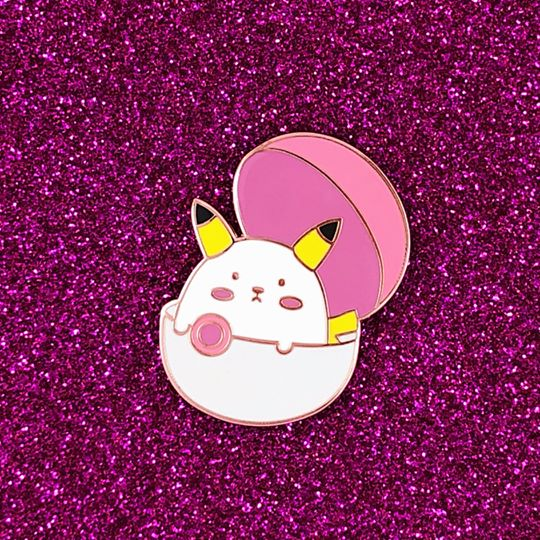 Bashful Pikachu Bear Hard Enamel Pin - Gamer Collection